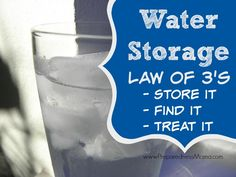 We take clean water for granted. If know the water storage law of when trying to store water you will stay safe. Water Storage Containers, Food Storage, Survival Food, Emergency Preparedness, Survival Stuff, Storing Water, 72 Hour Kits, Back To Basics, In Case Of Emergency