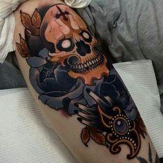 Bad ass skull tattoo