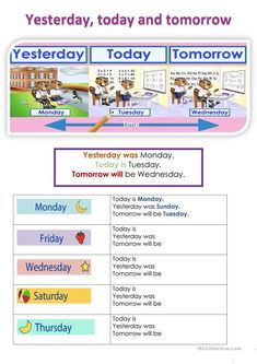 A collection of English ESL worksheets for home learning, online practice, distance learning and English classes to teach about today, is, today is Today Is Friday, Yesterday And Today, Kindergarten Worksheets, Worksheets For Kids, Word Order, English Classroom, Free Printable Worksheets, Teaching Jobs, Home Learning