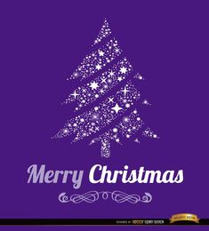 Christmas background in purple color with stars in the shape of Christmas tree. You can use it in promos for Christmas time, and also in cards for sending your best wishes to your friends and family. Our team wishes you a Merry Christmas and a Happy New Year. High quality JPG included. Under Commons 4.0. Attribution License.