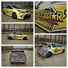 Rockstar Ford Focus RS Ford Motorsport, Ford Rs, Ford Escort, Car Tuning, Car Wrap, Ford Focus, Wrapping, Cars, Transportation