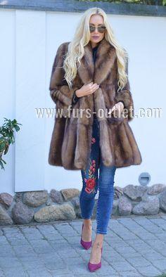 BARGUZIN RUSSIAN SABLE FUR SWINGER COAT CLASS OF JACKET MINK FOX LYNX CHINCHILLA | eBay
