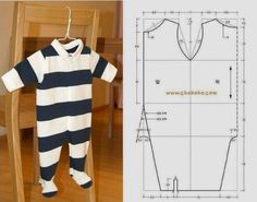 Resultado de imagen para moldes gratis ropa para bebes recien nacidos