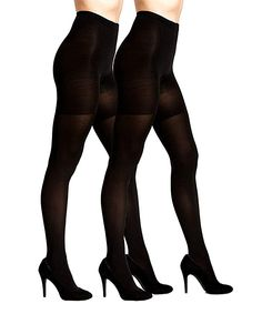 Add a warm layer to your dress and skirt ensembles when you slip on a pair of these opaque tights featuring a flattering control-top design. Opaque Tights, Slip On, Black, Tops, Fashion, Moda, Black People, Fashion Styles, Fashion Illustrations