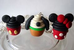 Disney Cupcake Pendent Necklace (Minnie mouse, Mickey mouse, Pluto) Choose One