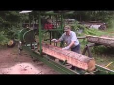 Homemade Bandsaw Mill From Old Car Wheels - YouTube