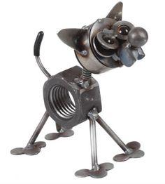 Chubby Nut Metal Chihuahua Statue