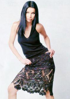 Соблазнительная юбка - вяжем крючком