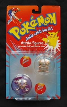 Pokemon Battle Figures with Poke' Ball and Battle Discs - #20 Raticate and #19 Rattata