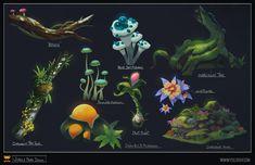 Jungle Prop Design by YogFingers on DeviantArt Game Inspiration, Alien Art, Animation Art, Art, Alien Plants, Environmental Art, Prop Design, Pretty Artwork, 2d Game Art