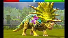 Playing Jurassic World the Game and got new dinosaurs monolophosaurus, irritator and gigantosaurus. Creature containment and dinosaur arena fight Game Jurassic World, Jurassic World Dinosaur Toys, Prehistoric Animals, Lion Sculpture, Creatures, Games, Log Projects, Animals, Gaming