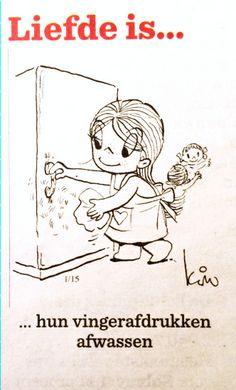 Liefde is… Hun vingerafdrukken afwassen