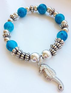 Seahorse Charm Stacking Bracelet by ElizaSophieDesigns on Etsy