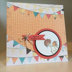 Hey Chic stamp set available as part of the Sale-a-bration promotion from Stampin' Up with a backing paper from the Cupcakes and Carousels paper stack from the Spring/Summer catalogue 2017 - created by Julia Jordan