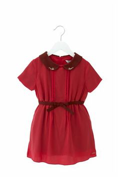 Little Marc Jacobs Viscose Dress with Studded Collar