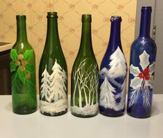 Ranges Of Painted Wine Bottles For Decoration Purposes