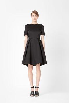 COS Satin pleated dress