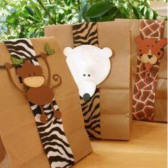 Bolsas para Baby Shower con animalitos