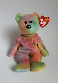 121c78da188 Ty Original Peace Beanie Baby with multiple errors (Rare) NWT