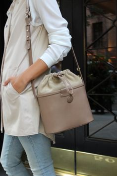 Our taupe Bucket Bag! Coming Soon from Fairchild Baldwin
