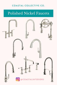 Polished Nickel Faucets Polished Nickel Kitchen Faucet, Kitchen Faucets, Touchless Faucet, Recycle Cans, Us Beaches, Coastal Style, Countertops, Dress, Diy