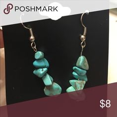 Turquoise Howlite earrings brand new with tags Brand new Jewelry Earrings
