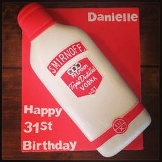 Smirnoff Vodka Bottle Cake