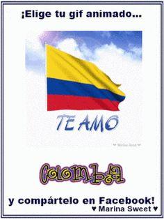 TE AMO ♥ Colombia Facebook Gif Animado
