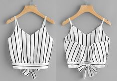 Crop Tops For Kids, Summer Outfits, Cute Outfits, Striped Crop Top, Western Outfits, Mermaid Dresses, Crop Shirt, Aesthetic Fashion, Diy Clothes