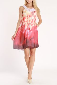 Issue NY Blare Printed Dress In Purple