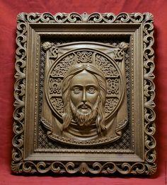 Купить Резная Икона из дерева - Спас Нерукотворный - икона, подарок, резьба по…