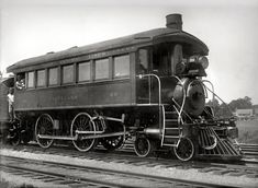 "Circa 1910. ""Passenger (observation) locomotive train car of New York Central Railroad"