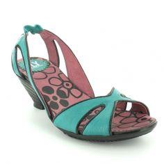 Fly aquamarine sling back sandals