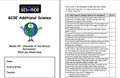 ocr 21st century science coursework