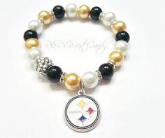 Pittsburgh Steelers Bracelet Beaded Bracelet Football