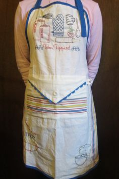 Bon Appetite deluxe Apron with pocket Hand by TheHoneyBeeCrafts, $29.00