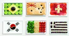 Creative FOOD FLAGS! It describes our traditional meals ... Food is ART!