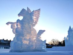 Island of Hokkaido in Japan for the annual Snow Festival in Sapporo: snow sculptures, great food, ice mazes, ice slides, and live bands.