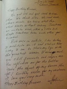 Johnny Cash never stopped adoring June. He would constantly write her notes and letters like this.
