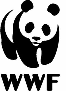 WWF logo. the image is black and white but easily recognisable. it is a well known image.
