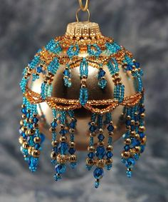 Beaded Ornament Cover by BeadingWolves on Etsy