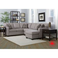 Hearns Fabric Sectional with Chaise