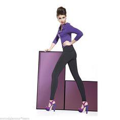 LEGGING TREGGING pantalon moulant Femme noir  BAS BLEU taille 2 S 3  M 4 L
