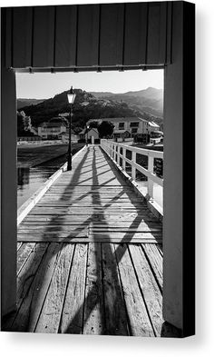 Akaroa New Zealand Pier Bw Canvas Print by Joan Carroll.  All canvas prints are professionally printed, assembled, and shipped within 3 - 4 business days and delivered ready-to-hang on your wall. Choose from multiple print sizes, border colors, and canvas materials.  #blackandwhite #akaroa #bankspeninsula #pier #lightandshadow  Visit joan-carroll.pixels.com for more #art #photography #fashion and #homedecor items from #newZealand and around the world!