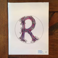 A personal favorite from my Etsy shop https://www.etsy.com/listing/237358988/purplepink-tones-letter-r-design