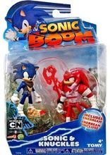 Sonic Boom 2 Pack Plastic Figures - Dirty Sonic And Bruised Knuckles