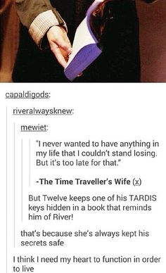 "ksc Loved this! Especially the last comment: ""I think I need my heart to function in order to live."" ♥♥"
