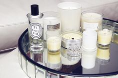 Sally collects beautiful scented candles