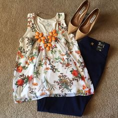 NWT Gorgeous white blouse with floral detail This blouse is so chic! Perfect for the office! It is mostly white and features a cute floral design. The fabric of the floral pattern is chiffon and the backside is cotton making it so comfy, yet keeps it looking chic! Brand new! New York & Company Tops