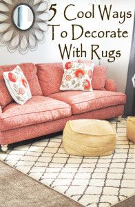 5 Cool ways to decorate with rugs